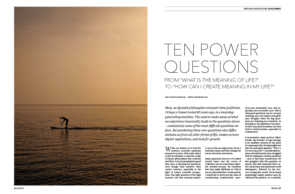 Annette Reissfelder Power Questions